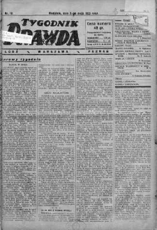 Tygodnik Prawda 5 maj 1929 nr 18