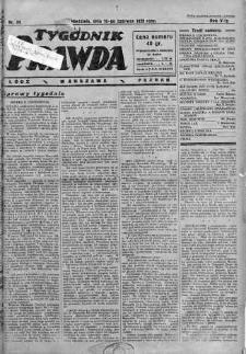 Tygodnik Prawda 16 czerwiec 1929 nr 24
