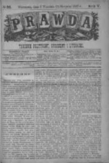 Prawda. Tygodnik polityczny, społeczny i literacki 1885, Nr 36