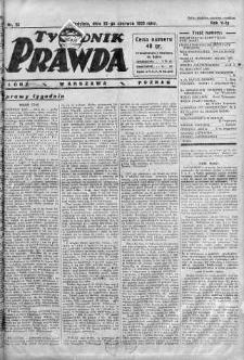 Tygodnik Prawda 23 czerwiec 1929 nr 25