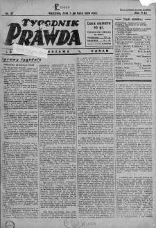 Tygodnik Prawda 7 lipiec 1929 nr 27