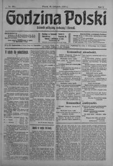 Godzina Polski : dziennik polityczny, społeczny i literacki 21 listopad 1916 nr 324