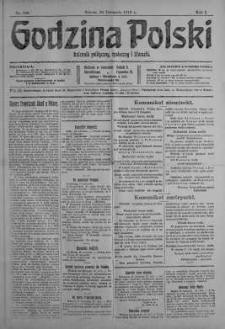 Godzina Polski : dziennik polityczny, społeczny i literacki 25 listopad 1916 nr 328