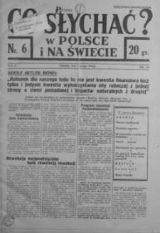 Co słychać w Polsce i na Świecie 7 luty 1937 nr 6