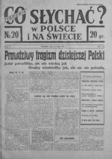 Co słychać w Polsce i na Świecie 16 maj 1937 nr 20