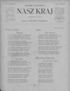 Nasz Kraj. Tygodnik Ilustrowany 1906, R. 1, Z. 10