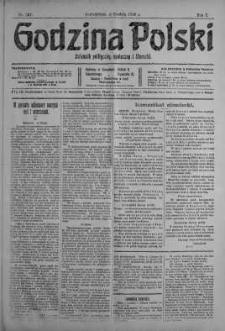 Godzina Polski : dziennik polityczny, społeczny i literacki 4 grudzień 1916 nr 337