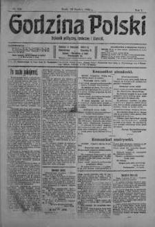 Godzina Polski : dziennik polityczny, społeczny i literacki 20 grudzień 1916 nr 353