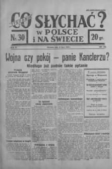 Co słychać w Polsce i na Świecie 23 lipiec 1939 nr 30