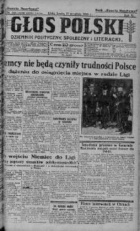 Głos Polski : dziennik polityczny, społeczny i literacki 15 wrzesień 1926 nr 254