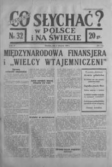 Co słychać w Polsce i na Świecie 6 sierpień 1939 nr 32