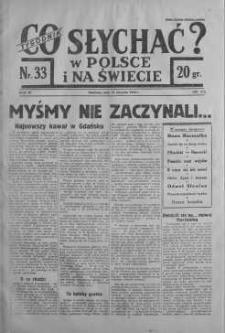 Co słychać w Polsce i na Świecie 13 sierpień 1939 nr 33