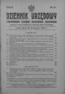 Dziennik Urzędowy Kuratorium Okręgu Szkolnego Łódzkiego: organ Rady Szkolnej Okręgowej Łódzkiej 20 listopad 1928 nr 11