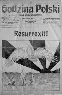 Godzina Polski : dziennik polityczny, społeczny i literacki 1 styczeń 1917 nr 1