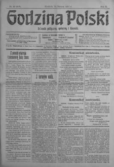 Godzina Polski : dziennik polityczny, społeczny i literacki 14 styczeń 1917 nr 12