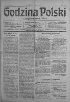 Godzina Polski : dziennik polityczny, społeczny i literacki 18 styczeń 1917 nr 16