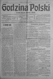 Godzina Polski : dziennik polityczny, społeczny i literacki 19 styczeń 1917 nr 17