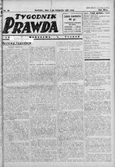Tygodnik Prawda 1 listopad 1931 nr 44