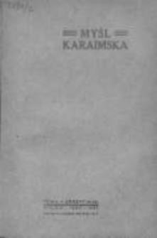 Myśl karaimska, 1930, Z. 3-4