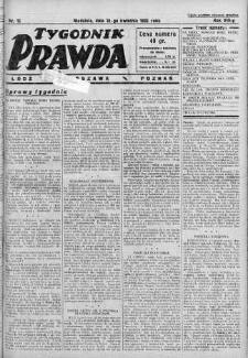 Tygodnik Prawda 10 kwiecień 1932 nr 15