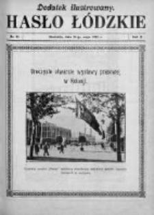 Dodatek Ilustrowany. Hasło Łódzkie 1928, R. 2, Nr 21