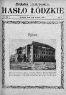 Dodatek Ilustrowany. Hasło Łódzkie 1928, R. 2, Nr 26