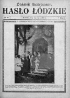 Dodatek Ilustrowany. Hasło Łódzkie 1928, R. 2, Nr 28