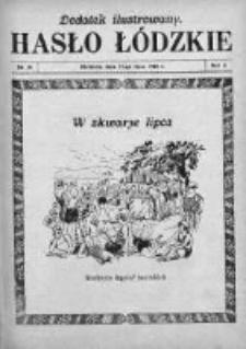Dodatek Ilustrowany. Hasło Łódzkie 1928, R. 2, Nr 30