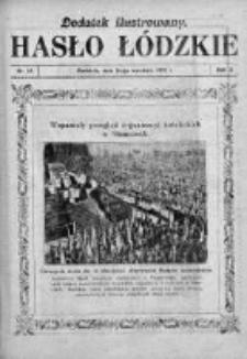Dodatek Ilustrowany. Hasło Łódzkie 1928, R. 2, Nr 38