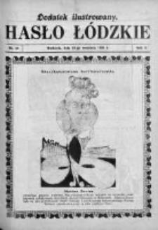 Dodatek Ilustrowany. Hasło Łódzkie 1928, R. 2, Nr 39