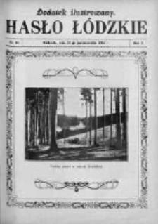 Dodatek Ilustrowany. Hasło Łódzkie 1928, R. 2, Nr 44