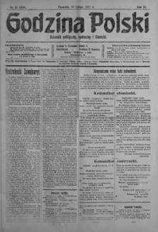 Godzina Polski : dziennik polityczny, społeczny i literacki 15 luty 1917 nr 44