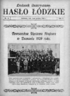 Dodatek Ilustrowany. Hasło Łódzkie 1928, R. 2, Nr 49