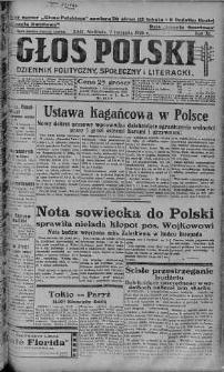 Głos Polski : dziennik polityczny, społeczny i literacki 7 listopad 1926 nr 306