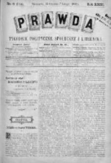Prawda. Tygodnik polityczny, społeczny i literacki 1903, Nr 6