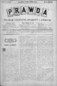 Prawda. Tygodnik polityczny, społeczny i literacki 1903, Nr 9