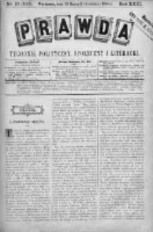 Prawda. Tygodnik polityczny, społeczny i literacki 1903, Nr 15