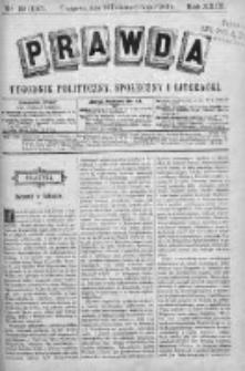 Prawda. Tygodnik polityczny, społeczny i literacki 1903, Nr 19