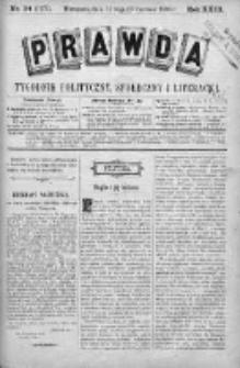 Prawda. Tygodnik polityczny, społeczny i literacki 1903, Nr 24