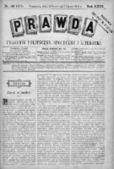 Prawda. Tygodnik polityczny, społeczny i literacki 1903, Nr 28