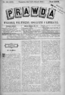 Prawda. Tygodnik polityczny, społeczny i literacki 1903, Nr 34