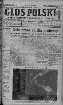 Głos Polski : dziennik polityczny, społeczny i literacki 11 listopad 1926 nr 310