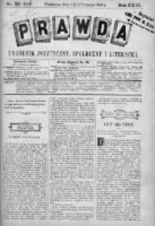 Prawda. Tygodnik polityczny, społeczny i literacki 1903, Nr 38