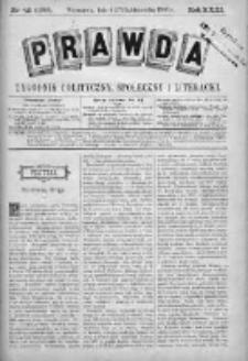 Prawda. Tygodnik polityczny, społeczny i literacki 1903, Nr 42
