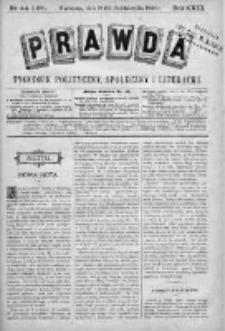 Prawda. Tygodnik polityczny, społeczny i literacki 1903, Nr 44