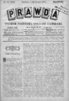 Prawda. Tygodnik polityczny, społeczny i literacki 1903, Nr 47