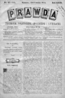Prawda. Tygodnik polityczny, społeczny i literacki 1903, Nr 52