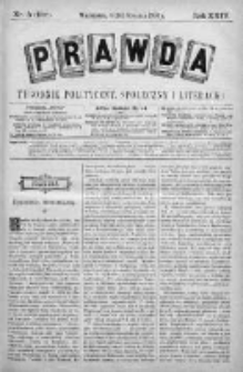 Prawda. Tygodnik polityczny, społeczny i literacki 1904, Nr 3