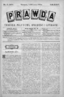Prawda. Tygodnik polityczny, społeczny i literacki 1904, Nr 8