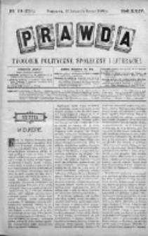 Prawda. Tygodnik polityczny, społeczny i literacki 1904, Nr 10